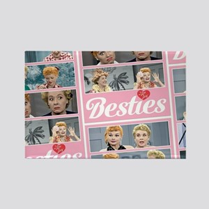 I Love Lucy: Besties Pattern Rectangle Magnet