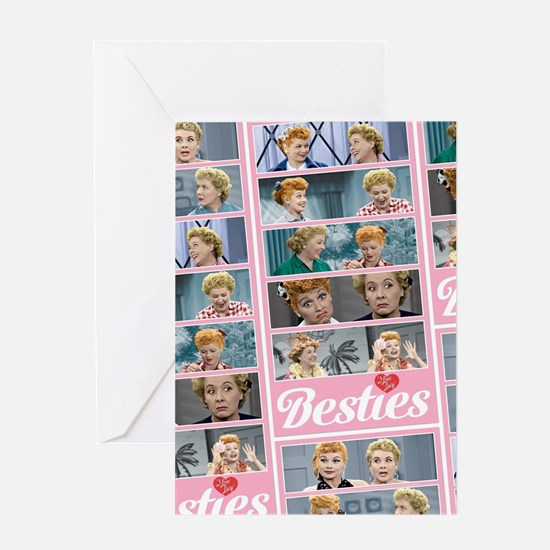 I Love Lucy: Besties Pattern Greeting Card