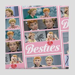 I Love Lucy: Besties Pattern Tile Coaster