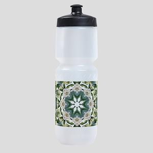 bohemian Chic boho floral Sports Bottle