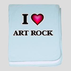 I Love ART ROCK baby blanket