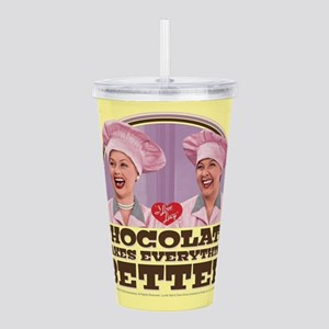 I Love Lucy: Chocolate Acrylic Double-wall Tumbler