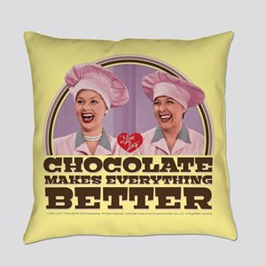 I Love Lucy: Chocolate Makes Every Everyday Pillow