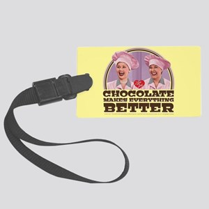 I Love Lucy: Chocolate Makes Eve Large Luggage Tag