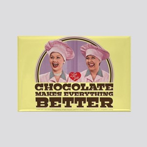 I Love Lucy: Chocolate Makes Ever Rectangle Magnet