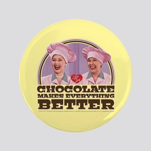 I Love Lucy: Chocolate Makes Everything Bet Button