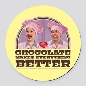 I Love Lucy: Chocolate Makes Ever Round Car Magnet
