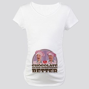 I Love Lucy: Chocolate Makes Eve Maternity T-Shirt