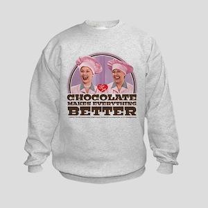 I Love Lucy: Chocolate Makes Every Kids Sweatshirt