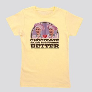 I Love Lucy: Chocolate Makes Everything Girl's Tee
