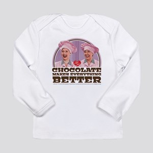 I Love Lucy: Chocolate Long Sleeve Infant T-Shirt