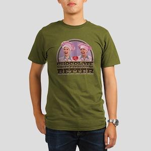 I Love Lucy: Chocolat Organic Men's T-Shirt (dark)