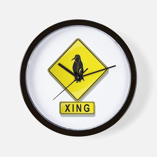 Penguin XING Wall Clock