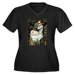 Ophelia /Pekingese(w) Women's Plus Size V-Neck Dar