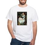 Ophelia /Pekingese(w) White T-Shirt