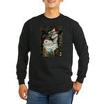 Ophelia /Pekingese(w) Long Sleeve Dark T-Shirt