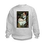 Ophelia /Pekingese(w) Kids Sweatshirt