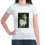 Ophelia /Pekingese(w) Jr. Ringer T-Shirt