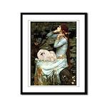 Ophelia /Pekingese(w) Framed Panel Print