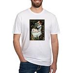 Ophelia /Pekingese(w) Fitted T-Shirt