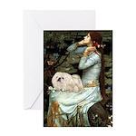 Ophelia /Pekingese(w) Greeting Card