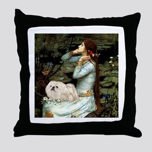 Ophelia /Pekingese(w) Throw Pillow