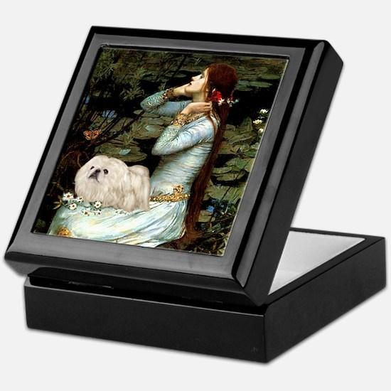 Ophelia /Pekingese(w) Keepsake Box