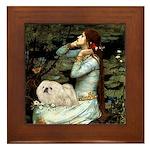 Ophelia /Pekingese(w) Framed Tile