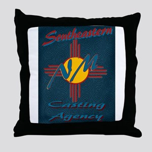 SE NM Casting Agency Logo Wear Throw Pillow
