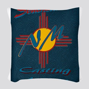 SE NM Casting Agency Logo Wear Woven Throw Pillow