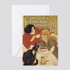 Chocolate and Cat Greeting Card