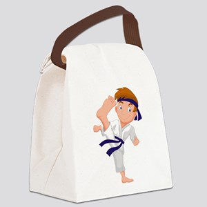 KARATE BOY Canvas Lunch Bag