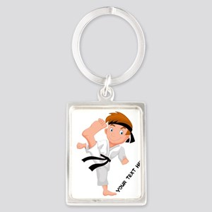 PERSONALIZED KARATE BOY Keychains