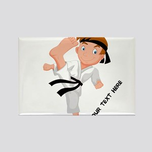 PERSONALIZED KARATE BOY Magnets
