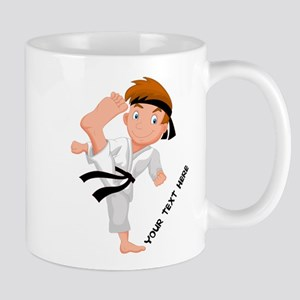 PERSONALIZED KARATE BOY Mugs