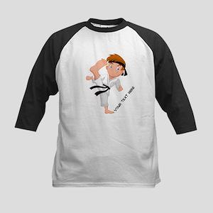 PERSONALIZED KARATE BOY Baseball Jersey