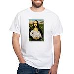 Mona /Pekingese (w) White T-Shirt