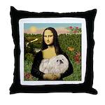 Mona /Pekingese (w) Throw Pillow