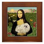 Mona /Pekingese (w) Framed Tile