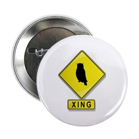 """Owl XING 2.25"""" Button (100 pack)"""