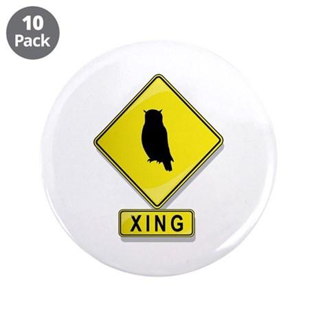 """Owl XING 3.5"""" Button (10 pack)"""