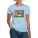 Lilies / Pekingese(r&w) Women's Light T-Shirt