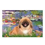 Lilies / Pekingese(r&w) Postcards (Package of 8)