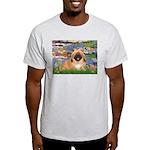 Lilies / Pekingese(r&w) Light T-Shirt