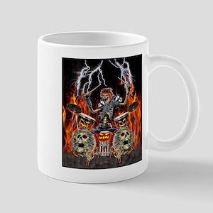 HEAVY METAL ZOMBIE DRUMMER Mugs