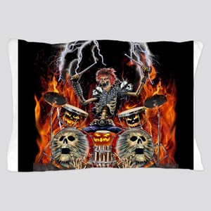 HEAVY METAL ZOMBIE DRUMMER Pillow Case