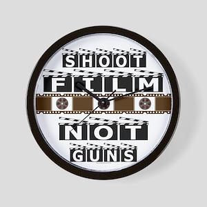 Shoot film, not guns Wall Clock