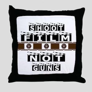 Shoot film, not guns Throw Pillow