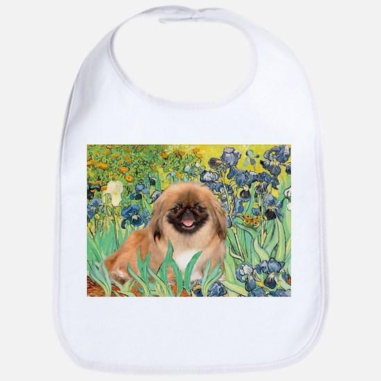 Irises / Pekingese(r&w) Bib