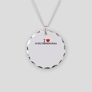 I Love SCHLUMBERGERA Necklace Circle Charm
